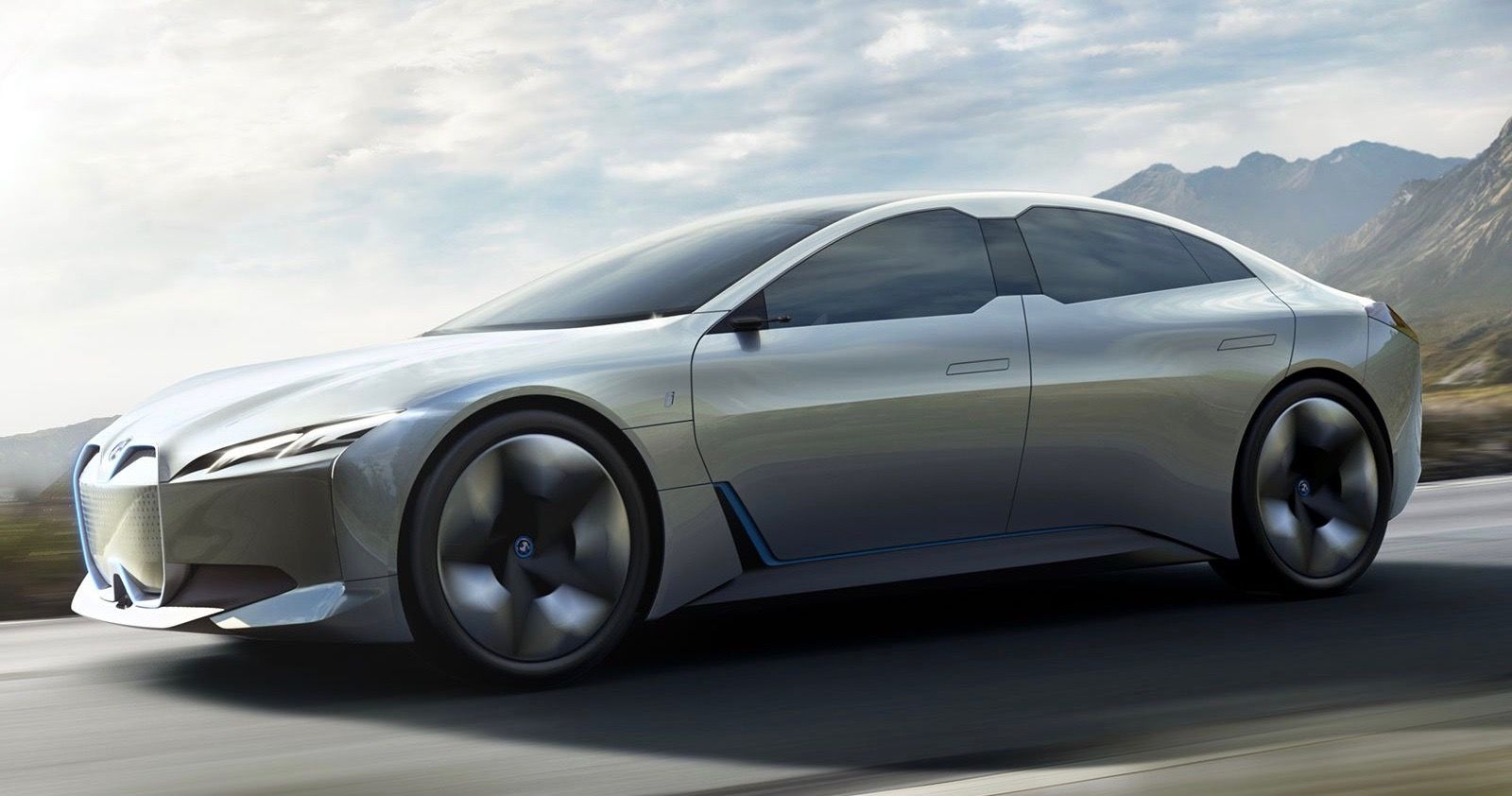 new images of the bmw i4 electric vehicle hit the internet