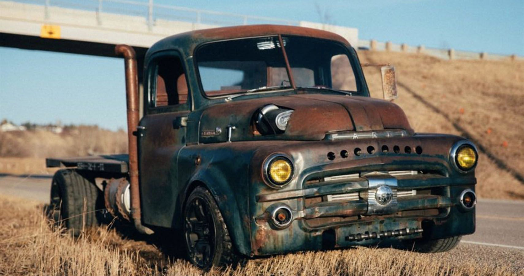 Check Out This Swapped Turbo 1949 Fargo Flatbed Hotcars