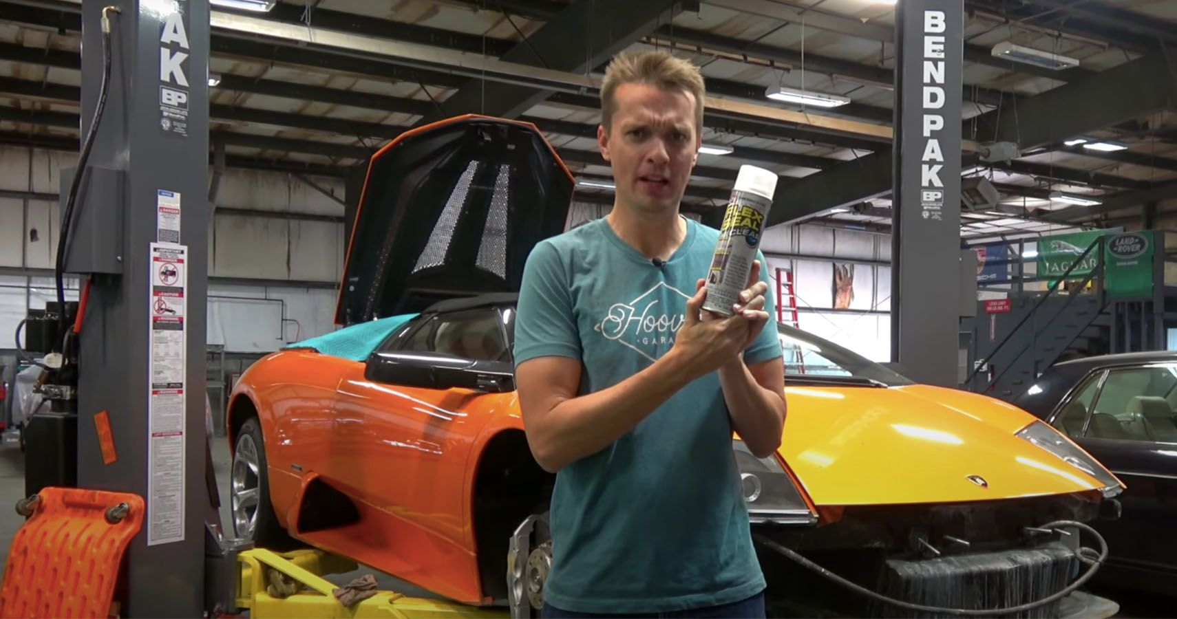 Watch Hoovie's Garage Use Flex Seal On A Cracked Lambo Gearbox