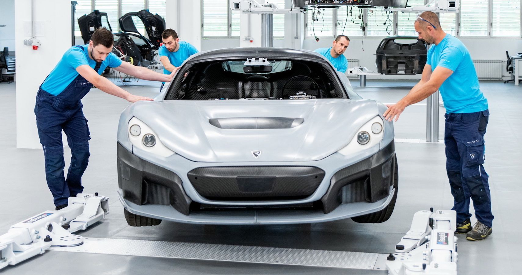 Watch How Rimac Builds C_Two Prototypes At Its High-Tech Factory In Croatia
