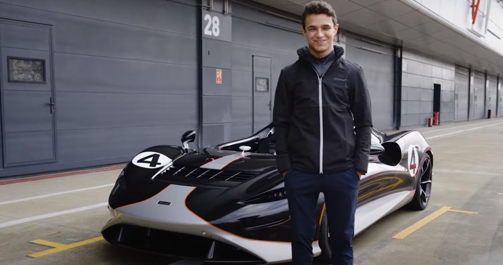 McLaren F1 Driver Lando Norris Tears Around Track In New Elva