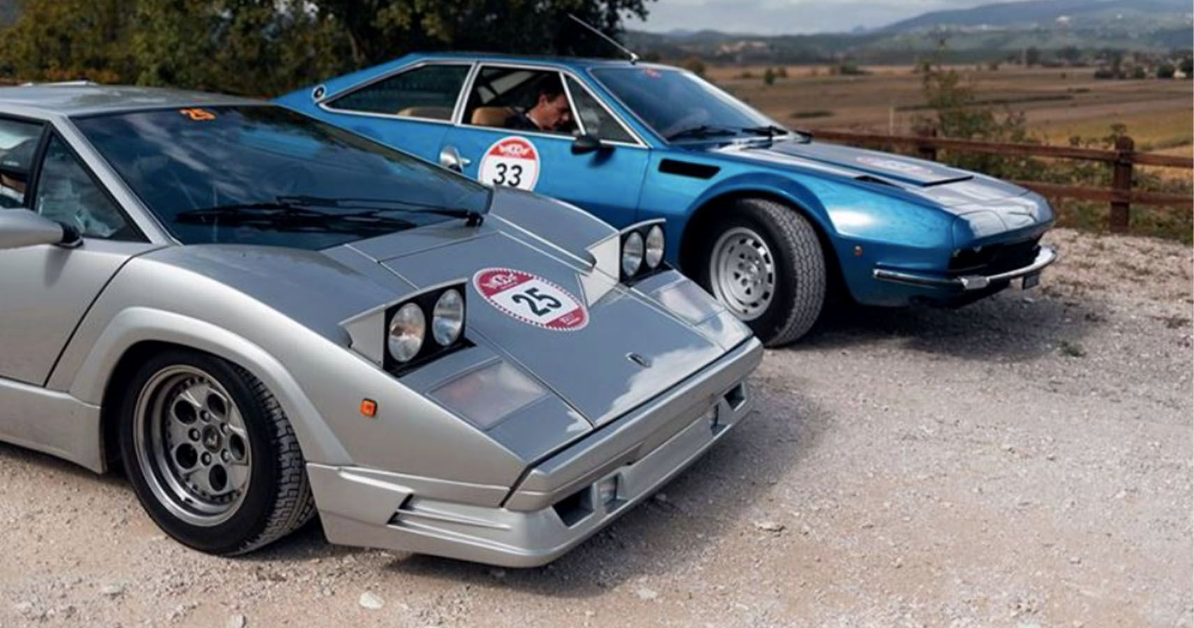 Lamborghini Digs Out A Countach And Jarama From Museum For Modern Rally