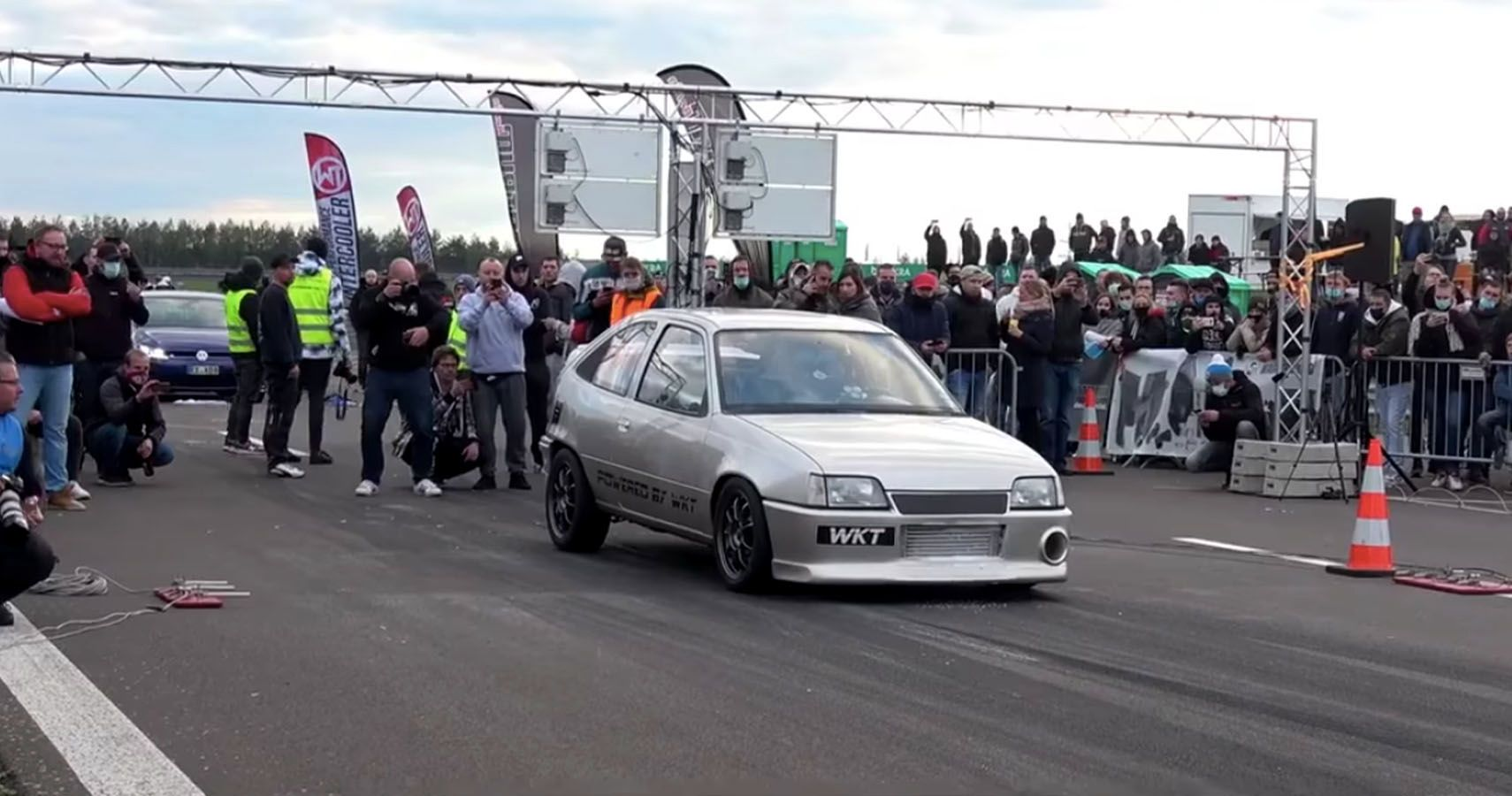 Watch This Sleeper Opel Kadett Get Ice Cooled Before Hitting 199 MPH In The Half-Mile