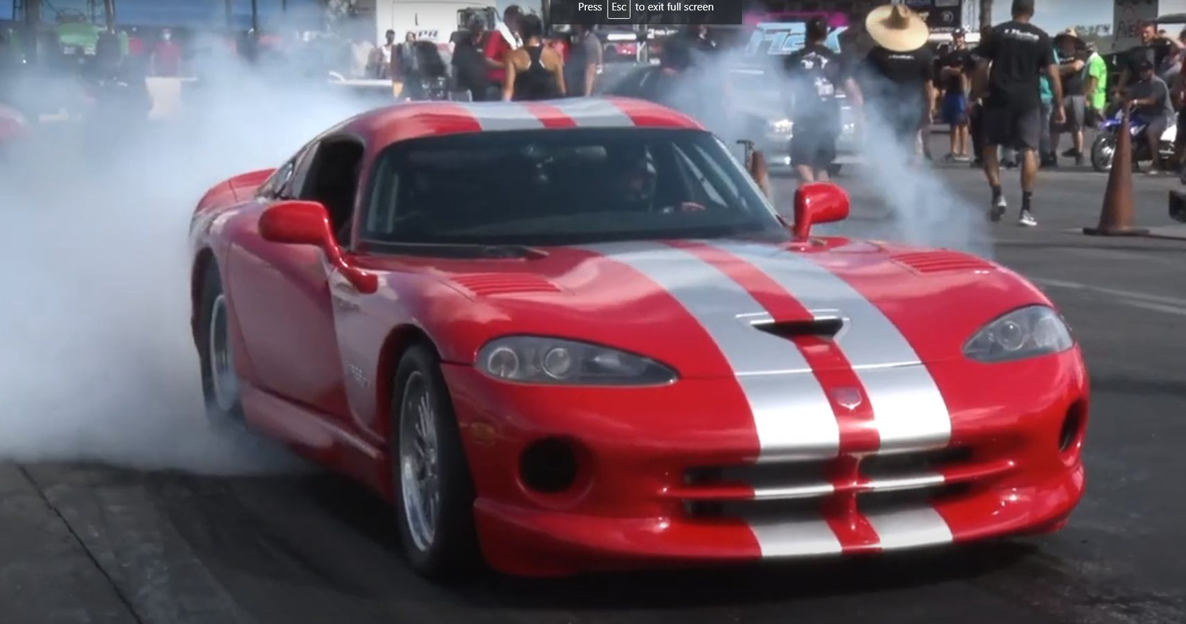 "Watch This 3000-HP Twin-Turbo ""Juggernaut"" Dodge Viper Unleashed At Florida Dragstrip"