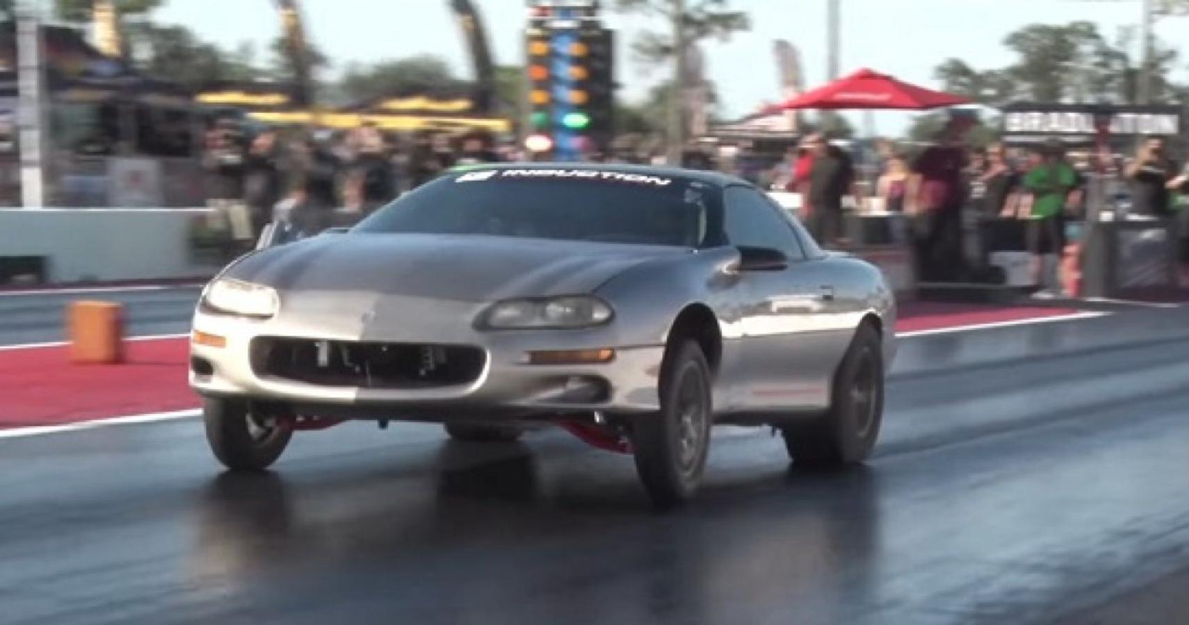 """Watch This 1100-HP 2JZ-Swapped Camaro, AKA """"Trailer Park Supra,"""" Do 8.4-Second Quarter-Mile"""