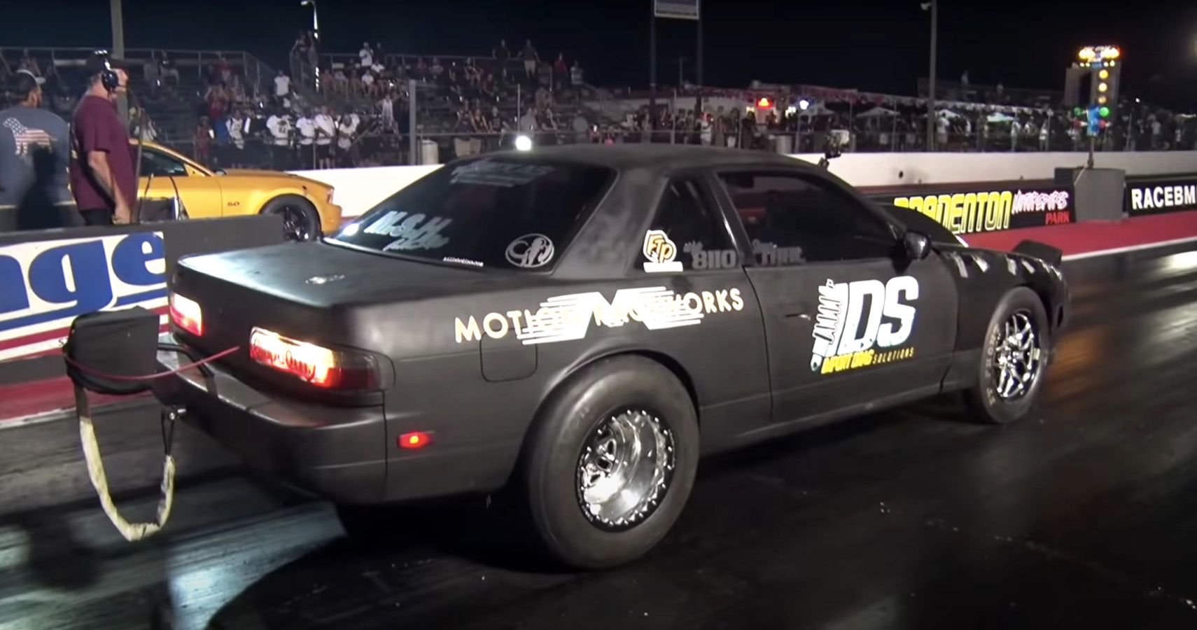 Watch This Nissan 240SX Drag Car Dial In A Massive 91mm Turbo At The Strip