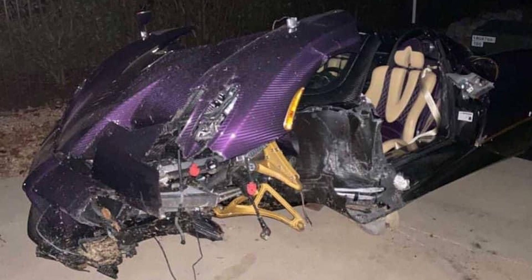 YouTuber Crashes One-Of-One Purple Pagani Huayra In Dallas