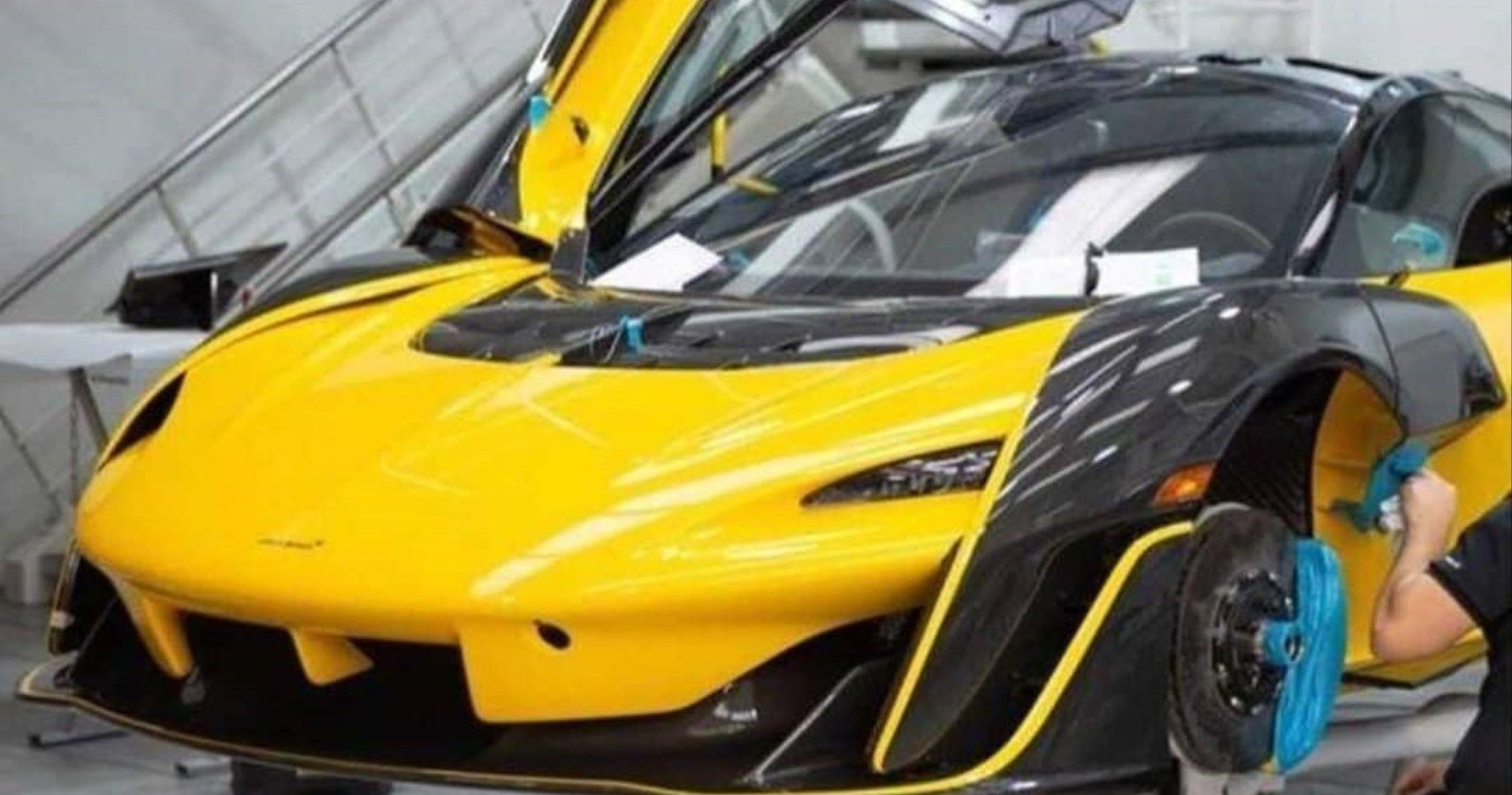 Get A Glimpse Of This McLaren Sabre In Yellow And Black Livery