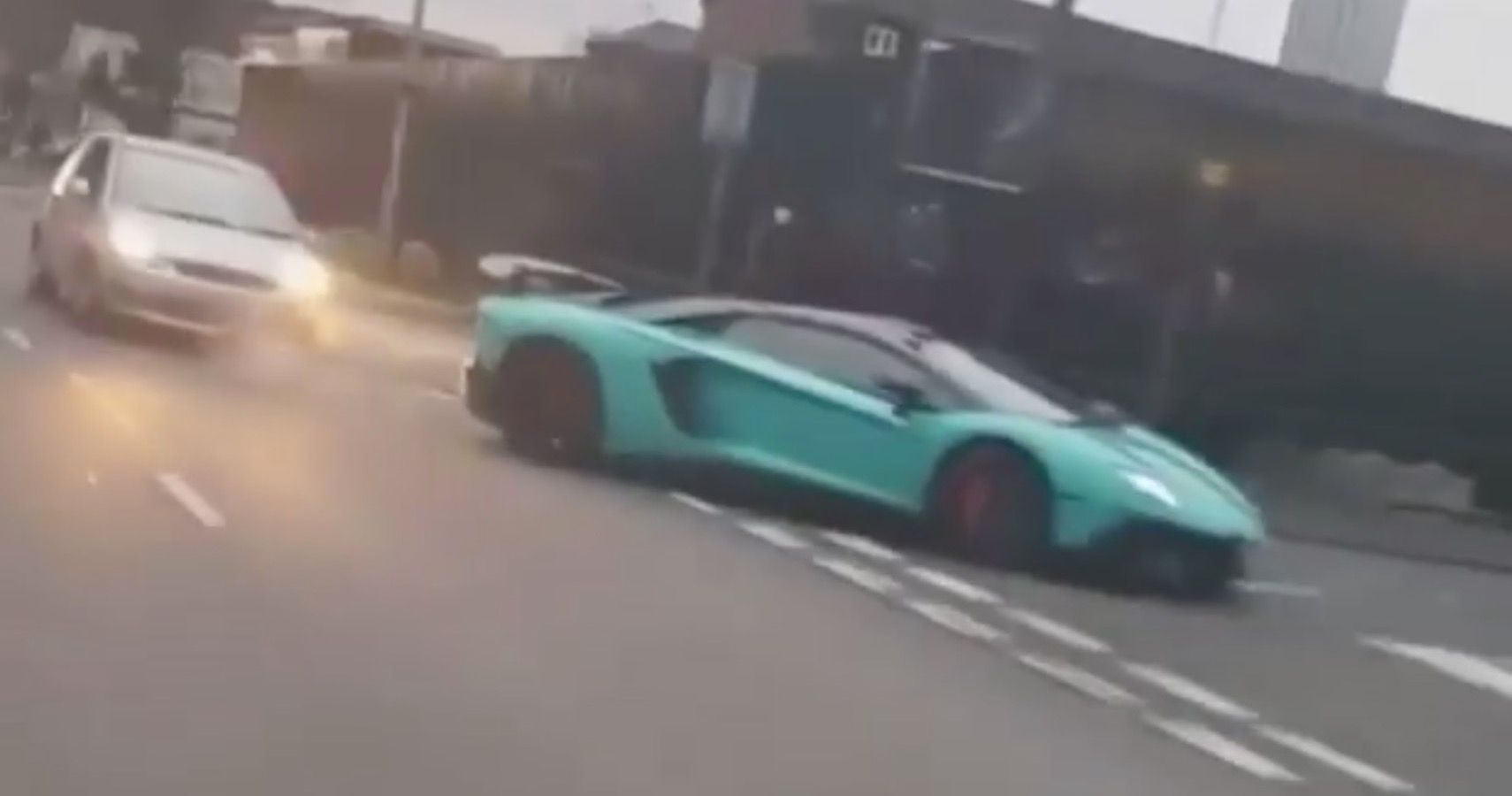 Nerve-Racking Footage Shows Lamborghini Aventador's Rear End Smashed By Ford Fiesta