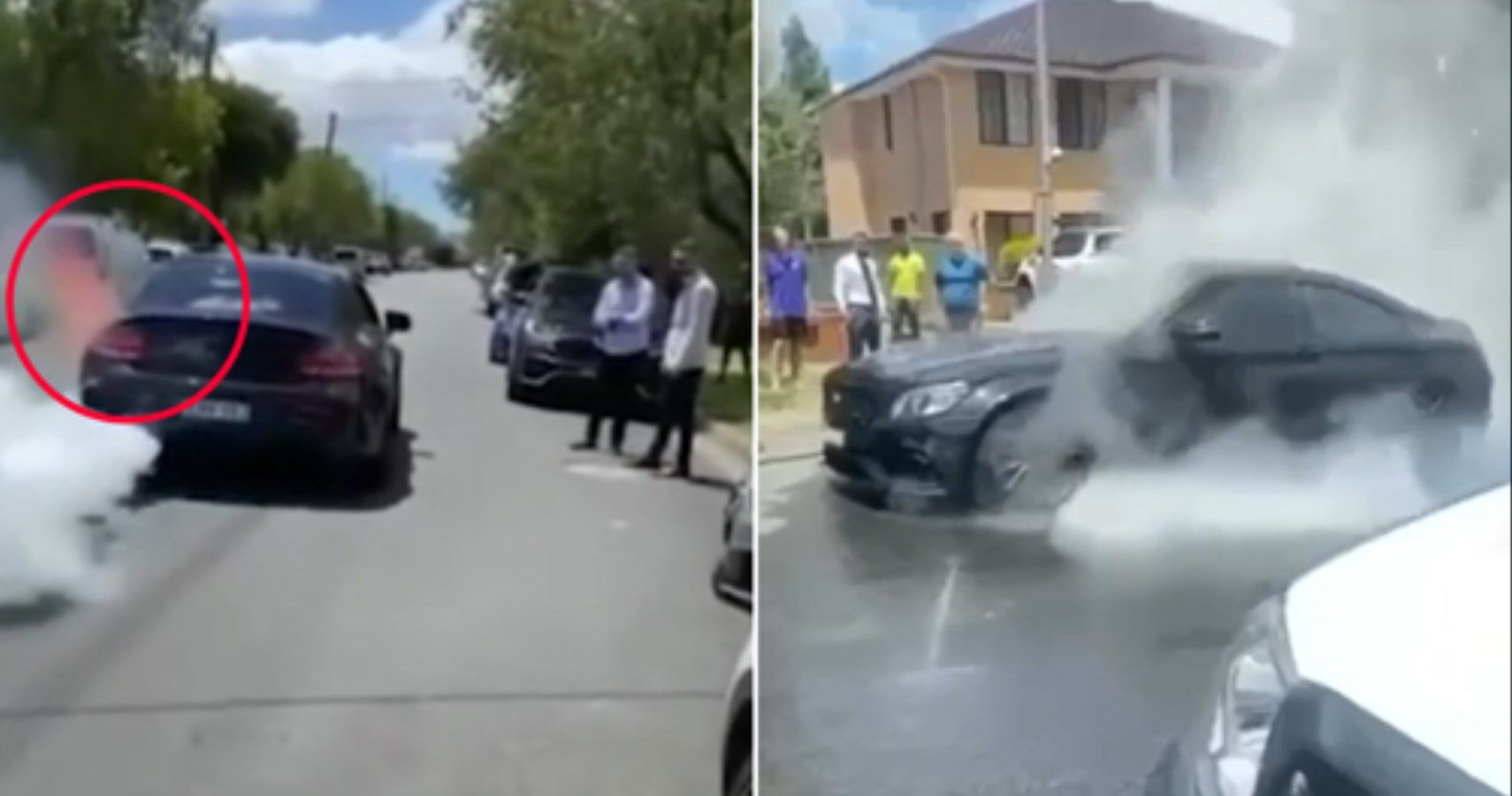 Watch This Mercedes-AMG C63 Owner Completely Destroy His Car After Epic Burnout Fail