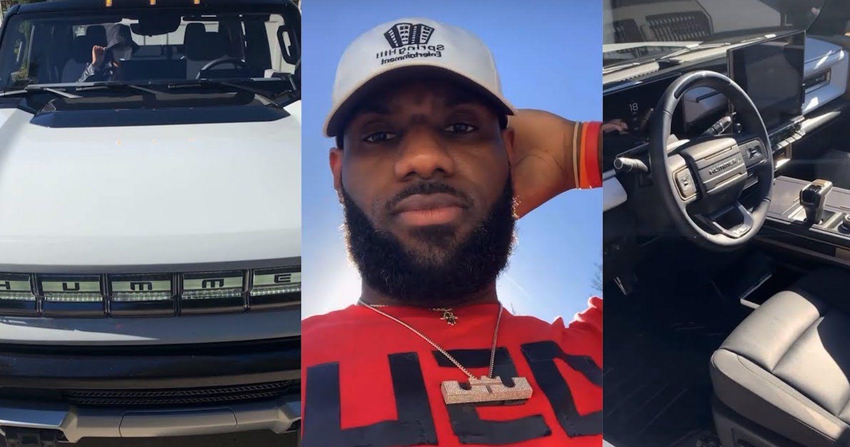 LeBron James Flaunts His GMC Hummer EV In Walkaround Video