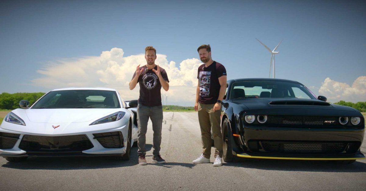 Best Supercar Slayer: Dodge Challenger Hellcat Redeye Or Chevrolet Corvette C8?