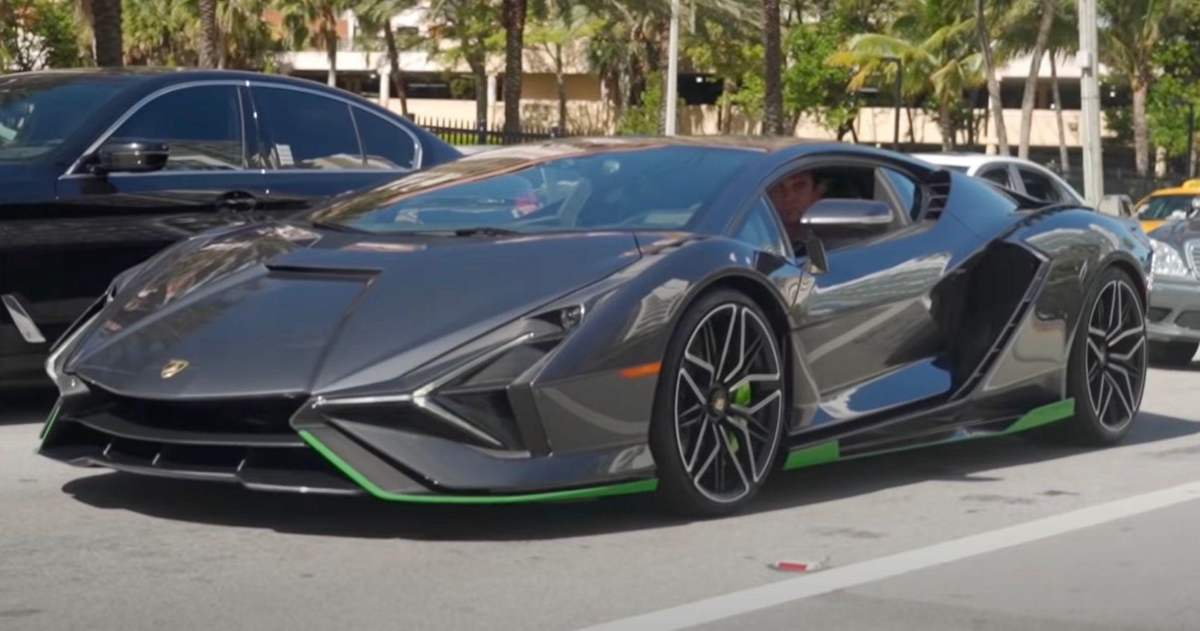 Lamborghini Sian Caught Revving Its Glorious V12 In Rare Sighting On Miami's Streets