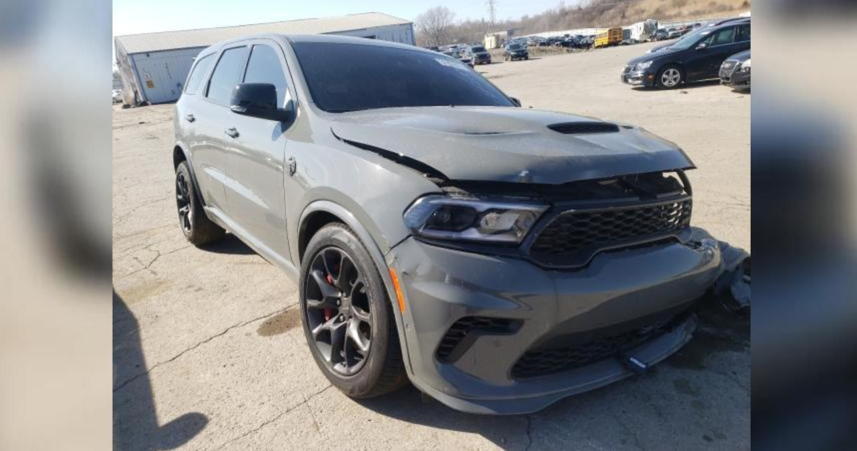 Mangled Dodge Durango SRT Hellcat Should Be Someone's Restoration Project