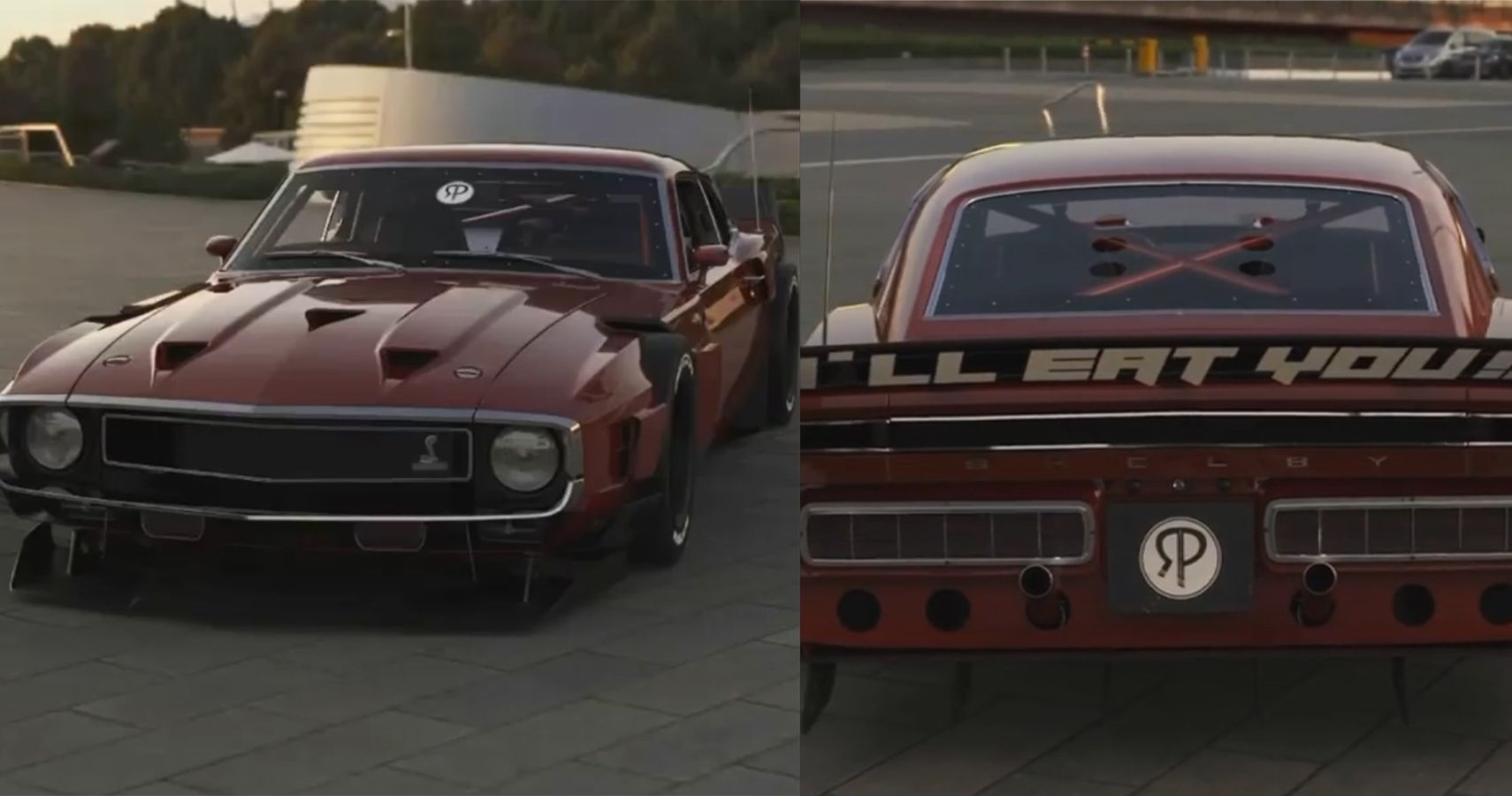 This Widebody Mustang Has A Sinister Warning For Tailgaters