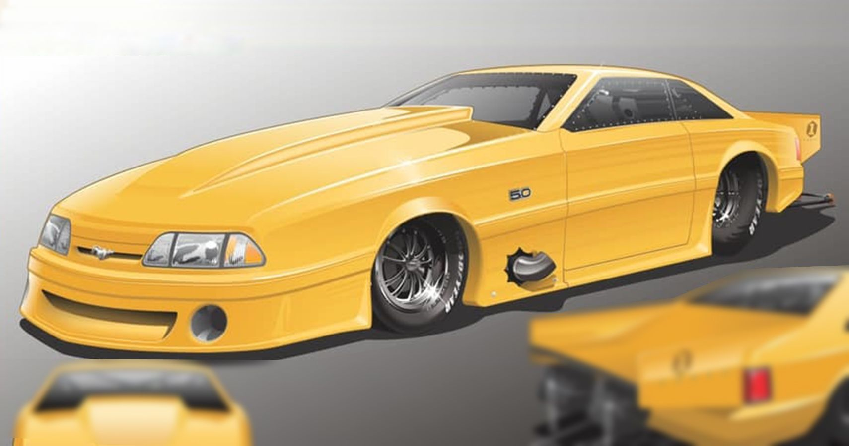 First Carbon Fox Body Mustang GT Pro Mod Body Now Available From Cynergy And Schoneck